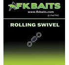 25 Émerillons carpe ROLLING SWIVEL matt black size 8