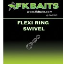 25 FLEXI RING SWIVEL matt black size 8