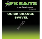 25 Émerillons carpe QUICK CHANGE SWIVEL matt black size 8