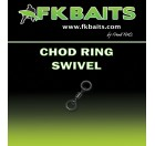 25 Émerillons carpe CHOD RING SWIVEL matt black