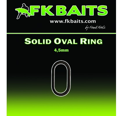 SOLID OVAL RING 4,5mm 20x matt black nickel