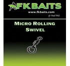 25 Émerillons carpe MICRO FLEXI RING SWIVEL matt black size 8