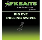 BIG EYEROLLING SWIVEL matt black size 8